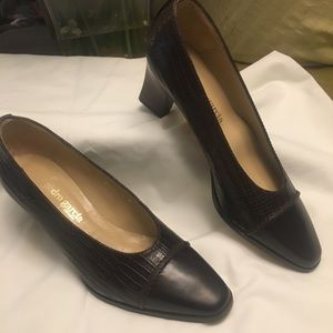 NWT Pedro Garcia Brown Leather Loafers. Size 6M